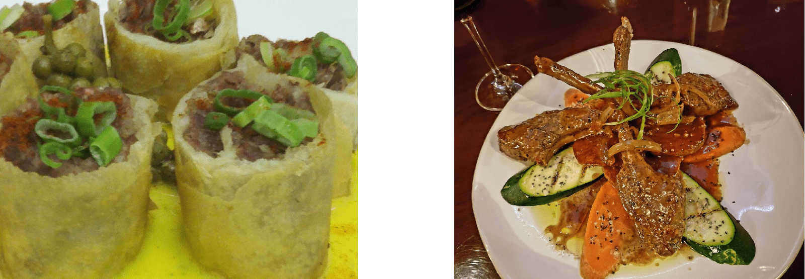 Brand Photo Comparison Of Two Food Dishes From Same Restaurant To Demonstrate Importance Of Quality Photos