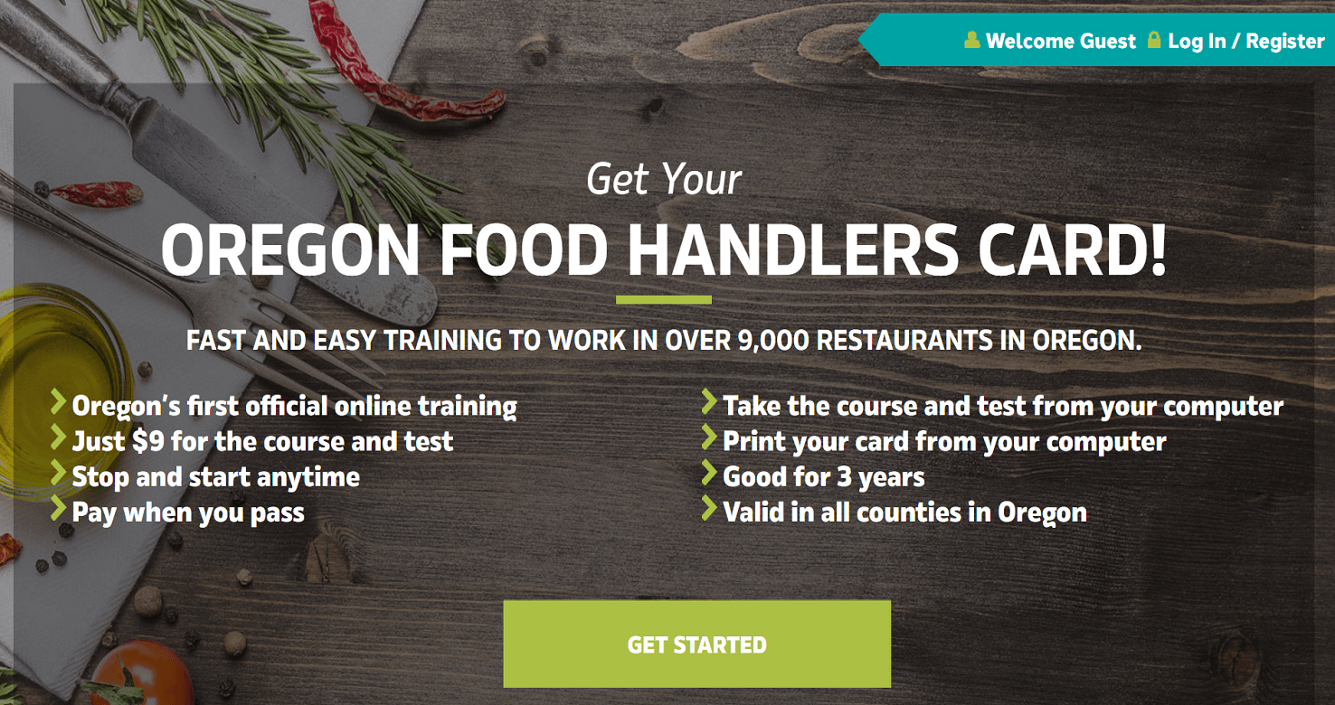 Oregon Food Handler Card – Portland, Oregon